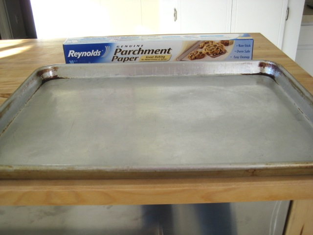 Parchment paper is a great alternative to greasing the cookie sheet(s)